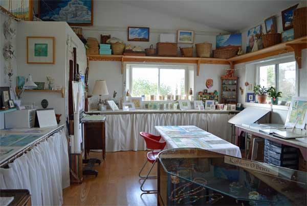 Studio display at ARTTOUR, Kathleen O'Brien Studio