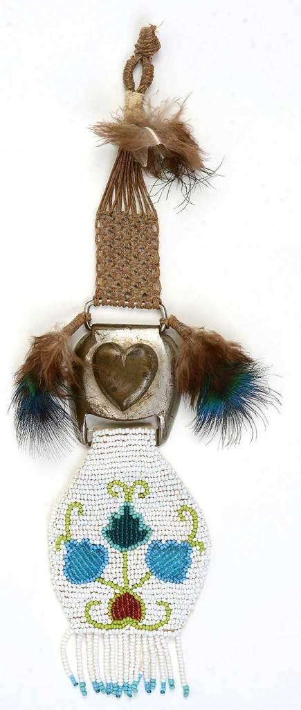 """© Kathleen O'Brien, """"Ojiway Bead Hanging"""", 1971"""