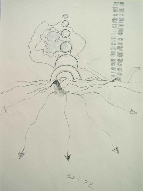 "© Kathleen O'Brien, ""Hexagrams"", drawing, 1972"