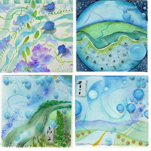 """Elder Harvest"", painting collage, Kathleen O'Brien"