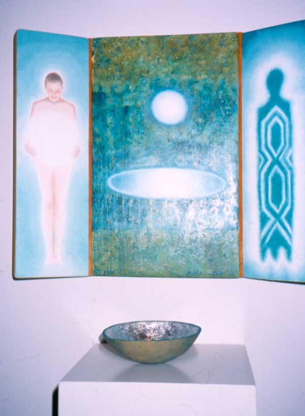 """© Kathleen O'Brien, """"Healing Pool"""", oil painting, 2001"""