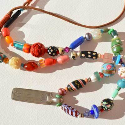 Healing Necklace 13, antique bead necklace © Kathleen O'Brien