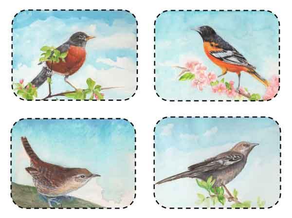 © Kathleen O'Brien, Sets 347-350, greeting cards, 2019
