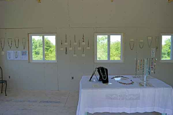 Inside the Studio Annex, west wall for the Spring Open Studio