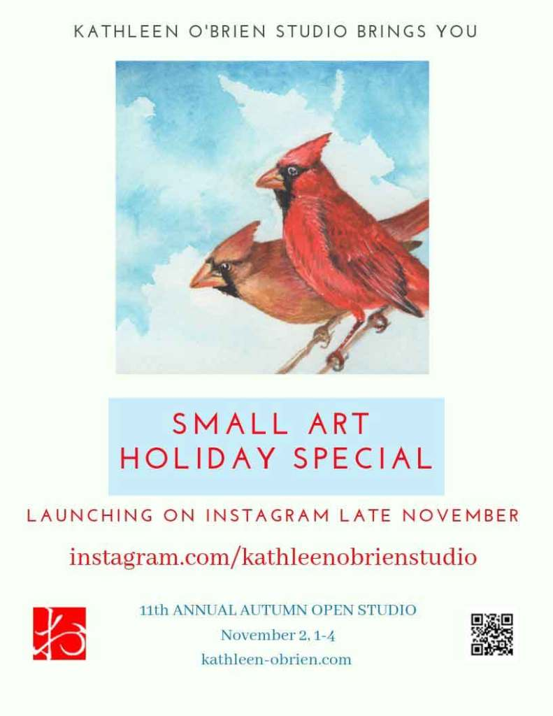 Poster for the Small Art Challenge at the end of November