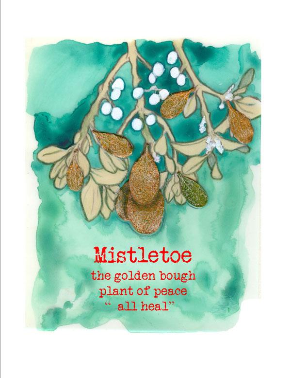 Mistletoe card by Kathleen O'Brien