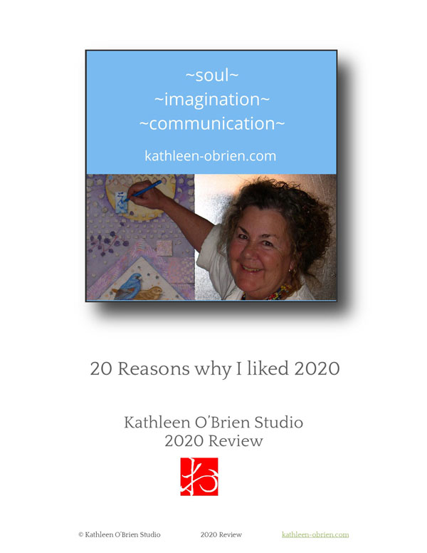 Cover for 2020 review by Kathleen O'Brien