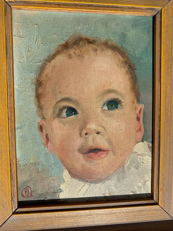 """Baby KO'B by James H. O'Brien, oil, 6x4"""""""