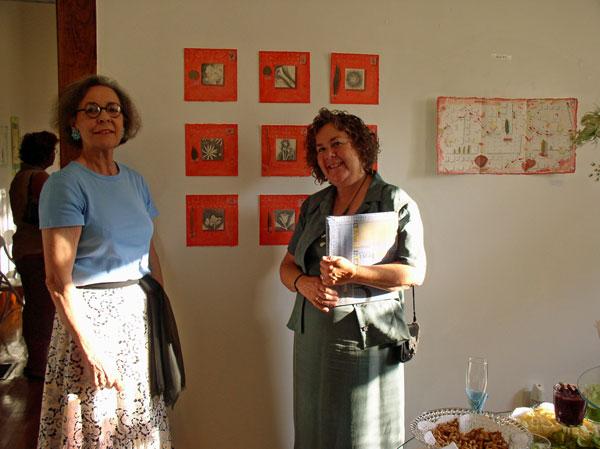 Lena Feiner and KO'B at 4 Seasons- 4 Directions Exhibit 2005