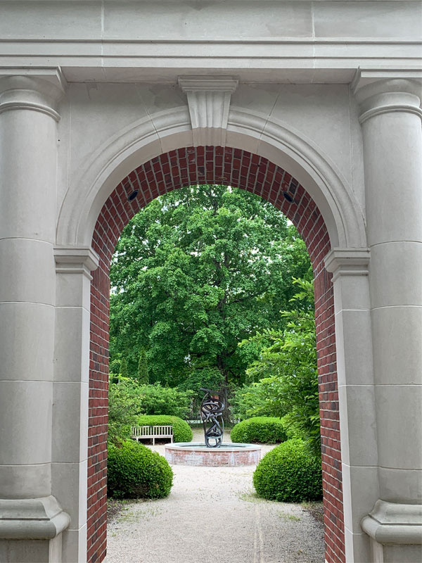 Entrance to the Church Park with Gummer Sculpture