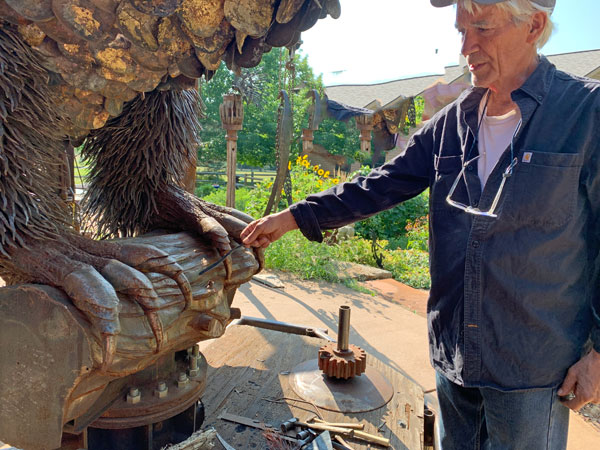 Robert Bellows with the Phoenix at Warrior StoryField