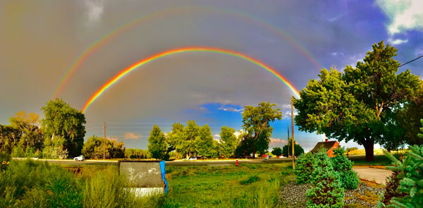 double rainbow above daughter's home