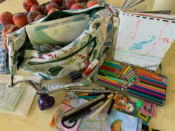 Travel Art Kit with organic Colorado peaches