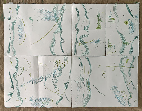 """Reverse side of  """"Songs From Little Landscapes"""" book, by Kathleen O'Brien"""