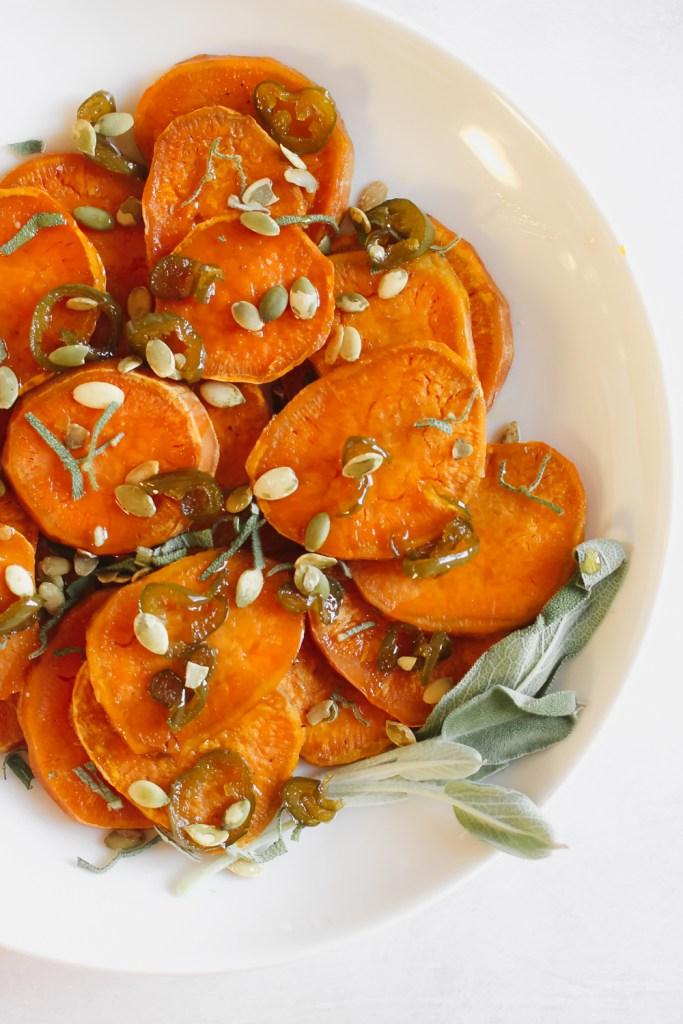 sweet potato agrodolce
