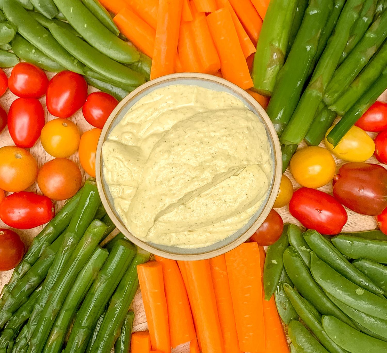 Miso Ranch Dip (Dairy Free, Gluten Free, Vegetarian)