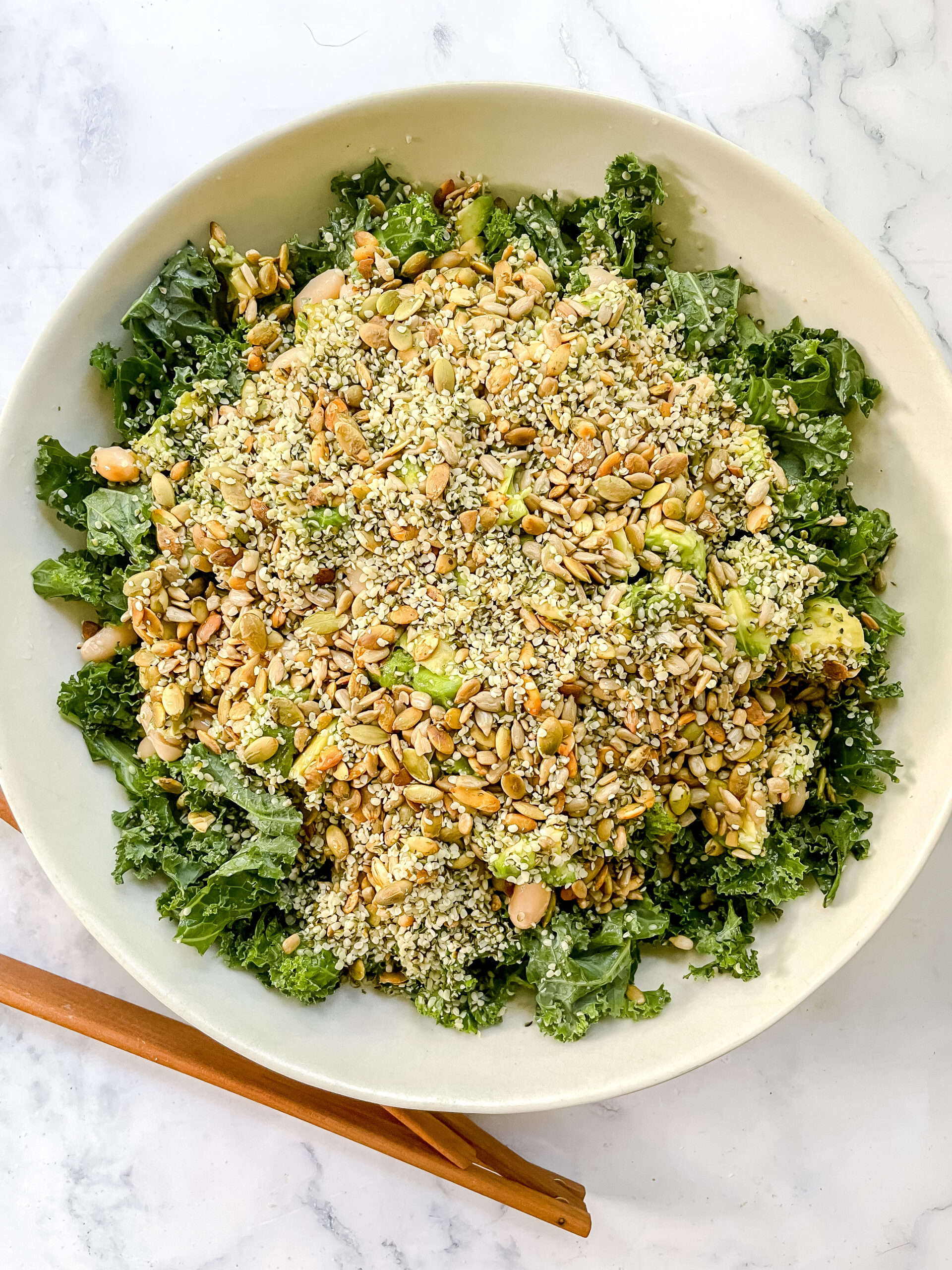 Erewhon's Famous Kale + White Bean Salad                     (Vegan, Gluten Free, Refined Sugar Free)