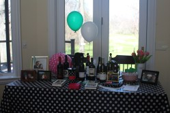 Prize table at our bridal shower