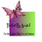 New Award:  The Butterfly Award