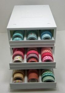 washi tape storage open