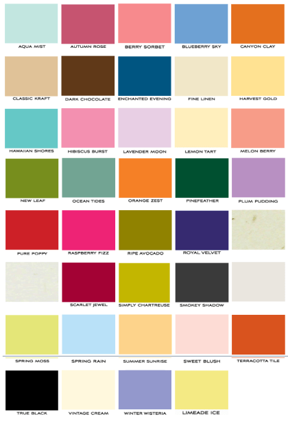 papertreyink cardstock colors