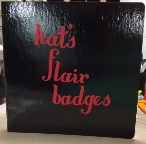 How I store my flair badges - kathleendriggers.com
