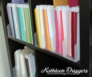 Kat's Cardstock Storage