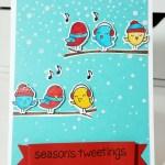Season's Tweetings – A Handmade Christmas Card