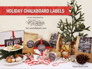 Free Holiday Chalkboard Labels