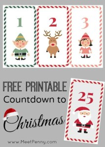 free christmas countdown cards