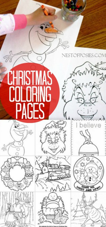 Free Christmas Coloring Pages for Kids - Free Printables
