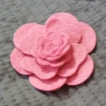 Tutorial:  How to Create Felt Flowers using MFT's Hybrid Camellia Flower Dies