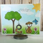 Lawn Fawn Critters in the Burbs – Handmade Card – Card Making