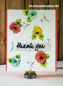 altenew painted flowers thank you card