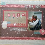 Kiss Me – Scrapbook Layout and Process Video