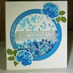 My Mother's Day Shaker Card Using Altenew's Vintage Rose Stamps & Dies