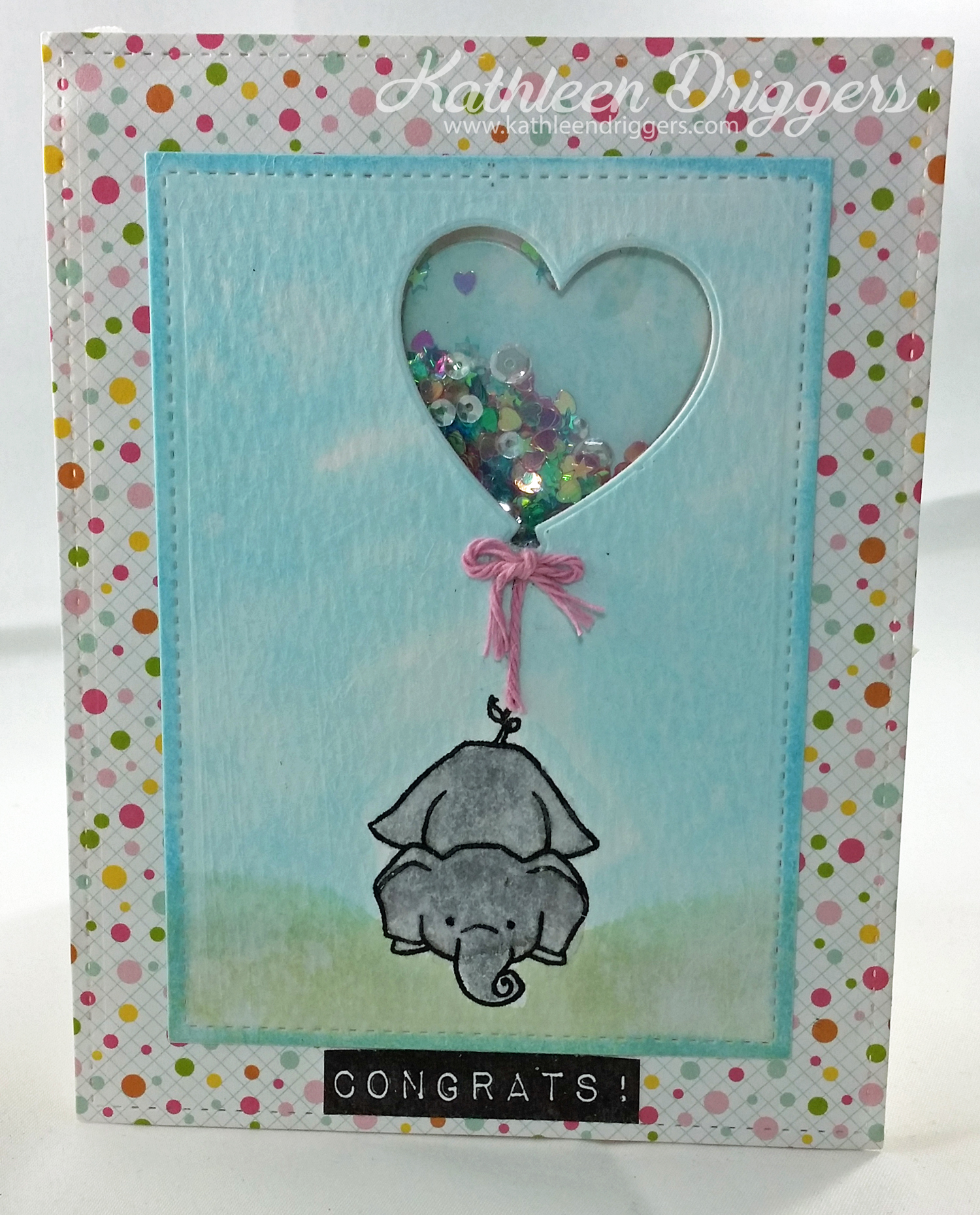 Baby Shaker Card With Process Video Kat S Adventures In