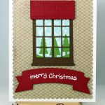 Christmas Card Featuring Mama Elephant's Window Watching Dies!