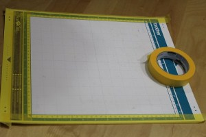 Tape the border of your mat