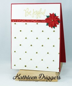 Be Joyful quilted christmas card