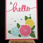Hello Card & Process Video Featuring Simple Florals Stamps & Dies from The Ton