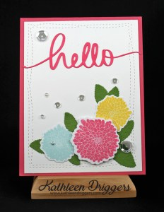 Simple Florals Hello Card