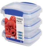 Sistema Klip It 3 by 6.7-Ounce Containers