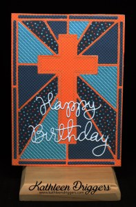 Cross Background Birthday Card by Kat