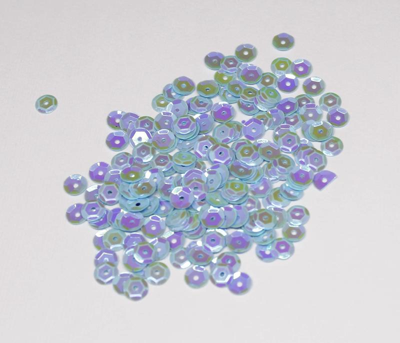 6mm Blue Cotton Candy