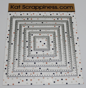 Kat Scrappiness Stitched Square Dies