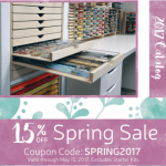 Save 15% at Stamp-n-Storage – Craft Room Storage & Organization