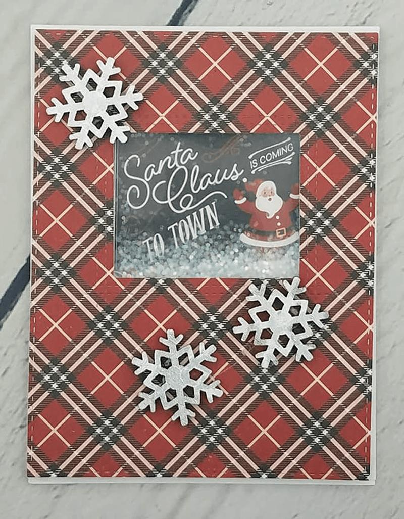 Santa Shaker Card