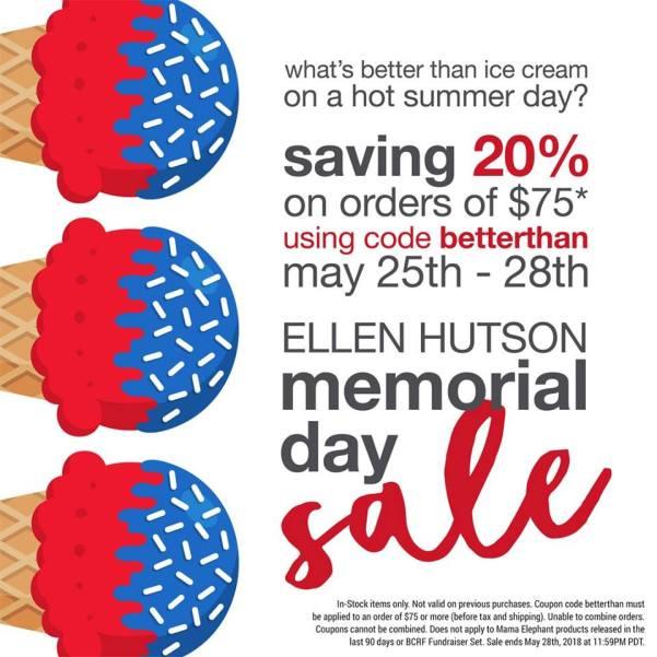 Ellen Hutson Memorial Day Sale