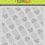 pineapple layered stencil